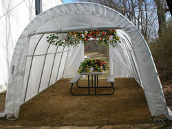 Rhino Instant Greenhouse Round 14'Wx24'Lx10'H (Translucent)