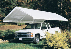 "King Canopy A-Frame Universal Canopy - 10' x 20' x 9'9"" - 8 Legs -  Fitted Cover w/ Drawstring - White"