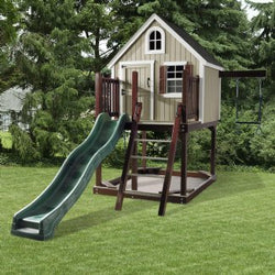 Pinnacle Play Systems Treehouse Loft Painted Wood Play Set