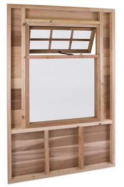 CedarShed Half-Awning Window Option