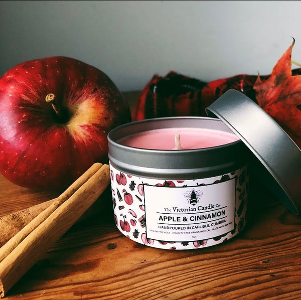 Apple & Cinnamon Soy Scented Candle