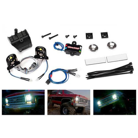TRA8039 LED light set (contains headlights, tail lights, side marker lights, distribution block (fits #8130 body, requires #8028 power supply)-LED Lighting-Mike's Hobby