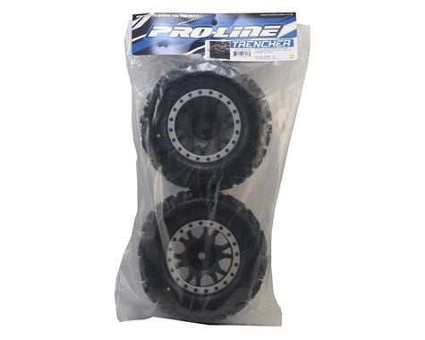 Pro-Line X-Maxx Trencher Pro-Loc Pre-Mounted All Terrain Tires (MX43)-RC Car Tires and Wheels-Mike's Hobby