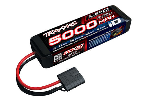 Traxxas 5000mAh 2S 7.4V iD-Equipped LiPo Battery (Short)-LiPo Battery-Mike's Hobby
