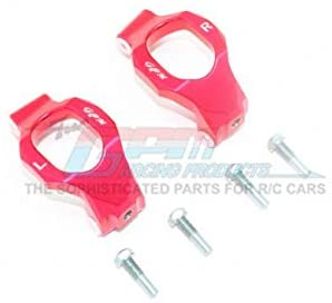 Aluminum Front C-HUBS -6PC Set Red-RC CAR PARTS-Mike's Hobby