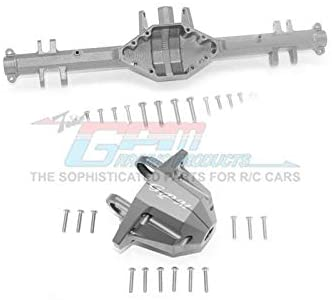 Aluminum Rear Axle Housing (with Carrier) - 1 Set Gray Silver-RC CAR PARTS-Mike's Hobby