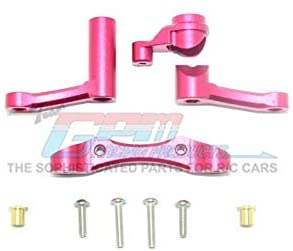 Aluminum Steering Assembly - 1 Set Red-RC CAR PARTS-Mike's Hobby