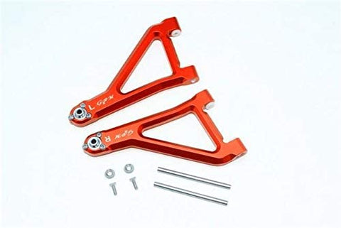 Aluminum Front Upper Suspension Arm - 8Pc Set Orange-RC CAR PARTS-Mike's Hobby