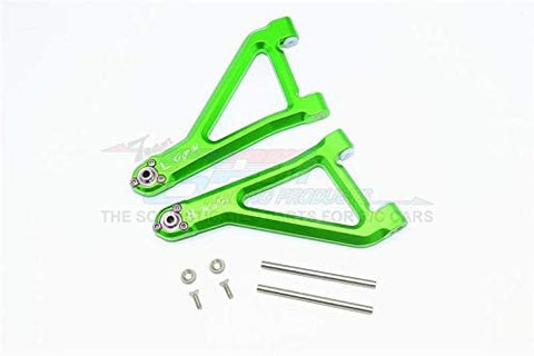 Aluminum Front Upper Suspension Arm - 8Pc Set Green-RC CAR PARTS-Mike's Hobby