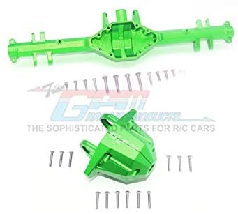 Aluminum Rear Axle Housing (with Carrier) - 1 Set Green-RC CAR PARTS-Mike's Hobby