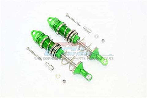 Aluminum Front Double Section Spring Dampers 115mm - 1Pr Set Green-RC CAR PARTS-Mike's Hobby