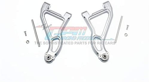 Aluminum Front Upper Suspension Arm - 1Pr Set Gray Silver-RC CAR PARTS-Mike's Hobby
