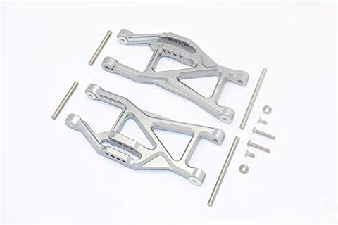 Aluminium Front/Rear Lower ARMS -14PC Set Gray Silver-RC CAR PARTS-Mike's Hobby