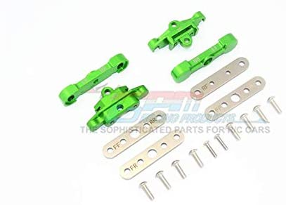 Aluminum Front + Rear Lower Arm Tie Bar Mount - 18Pc Set Green-RC CAR PARTS-Mike's Hobby