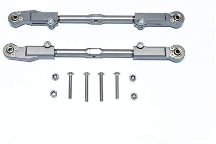 Aluminum+Stainless Steel Rear Upper ARM TIE Rod -10PC Set (Gray)-RC CAR PARTS-Mike's Hobby
