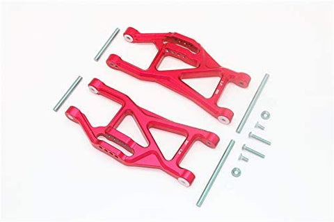 Aluminium Front/Rear Lower ARMS -14PC Set RED-RC CAR PARTS-Mike's Hobby