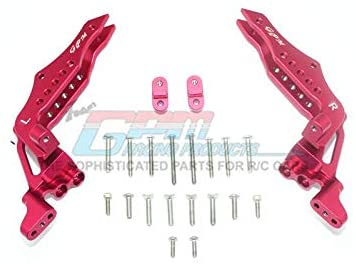 Aluminum Rear Shock Tower - 1Pr Set Red-Mike's Hobby