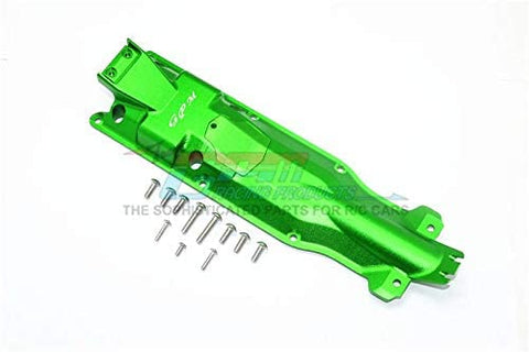 Aluminum 3D Skid Plate for Middle of Chassis - 1 Set Green-RC CAR PARTS-Mike's Hobby