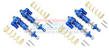 Aluminum Front & Rear L-Shape Piggy Back Spring Dampers 125mm - 2 Pair Set Blue-RC CAR PARTS-Mike's Hobby
