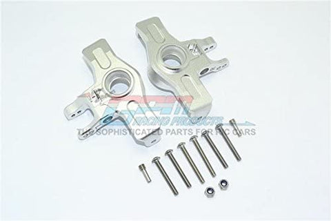 Aluminum Front Knuckle Arms - 1Pr Set Silver-RC CAR PARTS-Mike's Hobby