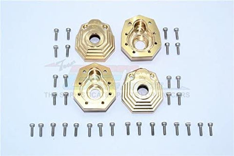 Brass Outer Portal Drive Housing (Front and Rear) Heavy Edition - 4Pcs Set-RC CAR PARTS-Mike's Hobby