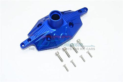 Aluminum Rear Axle Case Cover - 1Pc Set Blue-RC CAR PARTS-Mike's Hobby