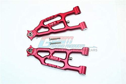 Aluminum Front Lower Suspension Arm - 1Pr Set Red-RC CAR PARTS-Mike's Hobby