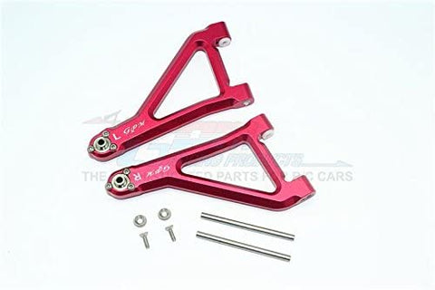 Aluminum Front Upper Suspension Arm - 8Pc Set Red-RC CAR PARTS-Mike's Hobby