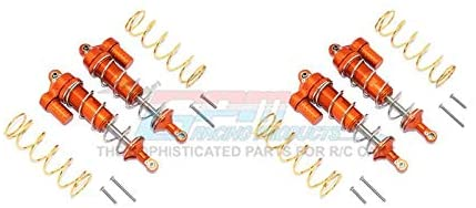 Aluminum Front & Rear L-Shape Piggy Back Spring Dampers 125mm - 2 Pair Set Orange-RC CAR PARTS-Mike's Hobby