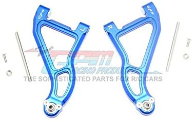 Aluminum Front Upper Suspension Arm - 1Pr Set Blue-RC CAR PARTS-Mike's Hobby