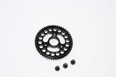 Steel Main Gear (56T) - 1Pc Set Black-RC CAR PARTS-Mike's Hobby