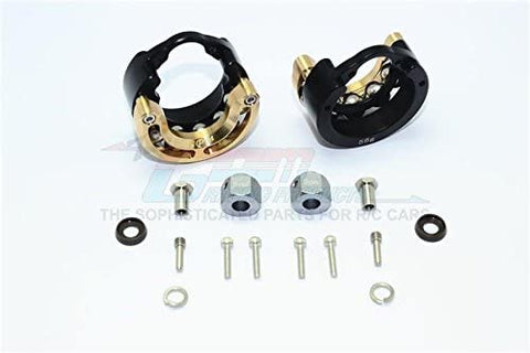 Aluminum Pendulum Wheel Knuckle Axle Weight With Brass Lid + 9mm Hex Adapter - 1Pr Set Black-RC CAR PARTS-Mike's Hobby