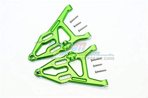 Aluminum Front Lower Suspension Arm - 1Pr Set Green-RC CAR PARTS-Mike's Hobby