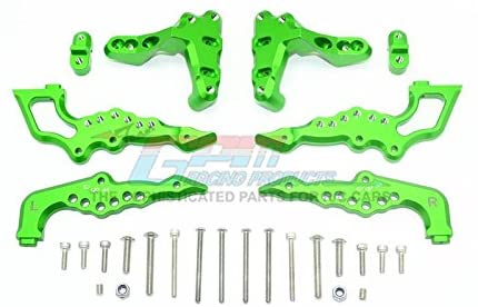 Aluminum Rear Damper Mount - 1 Set Green-RC CAR PARTS-Mike's Hobby