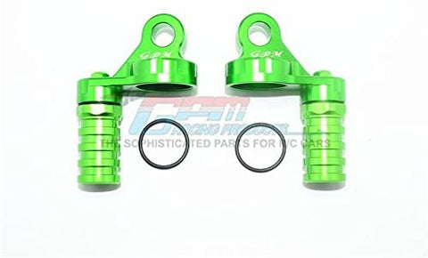 Aluminum Damper Cap with Piggyback Reservoirs - 4Pc Set Green-RC CAR PARTS-Mike's Hobby