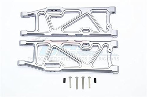 Aluminum Rear Lower Arms - 1Pr Set Gray Silver-Mike's Hobby