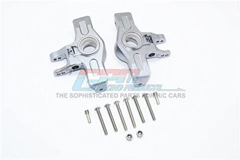 Aluminum Front Knuckle Arms - 1Pr Set Gray Silver-RC CAR PARTS-Mike's Hobby