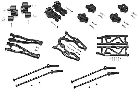 GPM Arrma 1/8 KRATON/Outcast/Notorious 6S BLX Aluminum F Upper+Lower ARMS, R Lower ARMS, F+R Knuckle ARMS, CVD, 13MM HEX -56PC Set (Black)-RC CAR PARTS-Mike's Hobby
