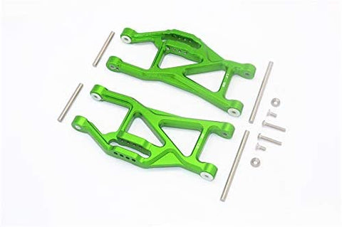 Aluminium Front/Rear Lower ARMS -14PC Set Green-RC CAR PARTS-Mike's Hobby