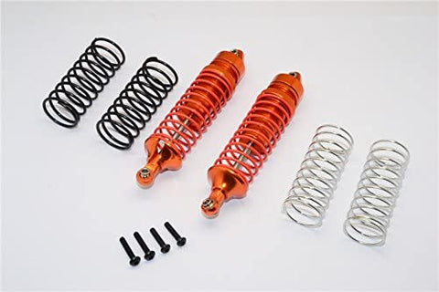 Aluminum Rear Adjustable Spring Damper with Aluminum Ball Top & Ball Ends - 1Pr Set Orange-RC CAR PARTS-Mike's Hobby