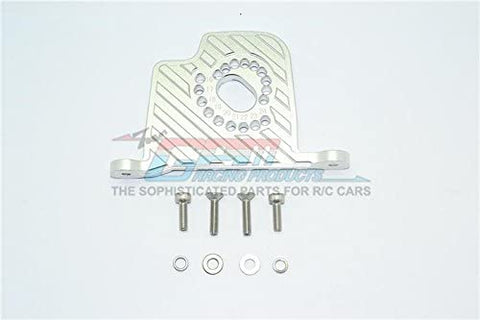 Aluminum Motor Mount Plate with Heat Sink Fins - 1Pc Set Silver-RC CAR PARTS-Mike's Hobby