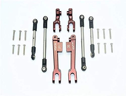 Spring Steel Front + Rear Sway Bar & Aluminum Sway Bar Arm & Stainless Steel Linkage - 23Pc Set Brown-RC CAR PARTS-Mike's Hobby