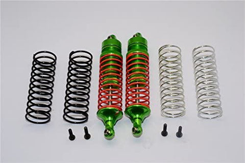 Aluminum Rear Adjustable Spring Damper with Aluminum Ball Top & Ball Ends - 1Pr Set Green-RC CAR PARTS-Mike's Hobby