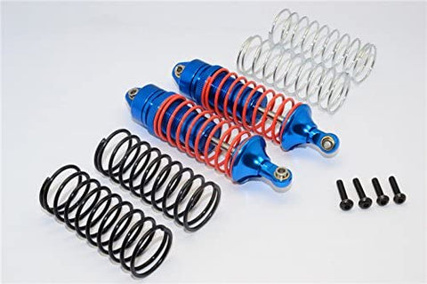 Aluminum Front Adjustable Spring Damper With Aluminum Ball Top & Ball Ends - 1Pr Set Blue-RC CAR PARTS-Mike's Hobby