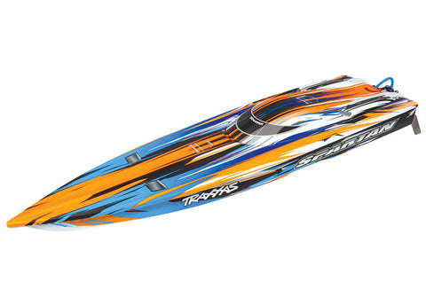 TRA57076-4 Spartan: Brushless 36' Race Boat. Fully assembled, Ready-to-Race Orange-Boats-Mike's Hobby