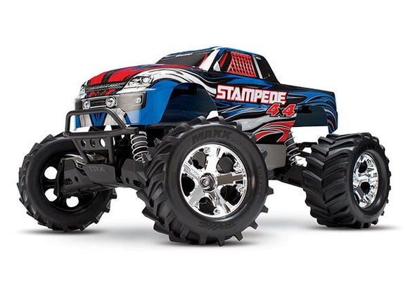 Traxxas Stampede 4x4: 1/10-scale 4WD Monster Truck-Cars & Trucks-Blue-Mike's Hobby