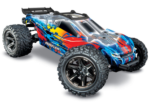 Traxxas Rustler 4X4: 1/10-scale 4WD Brushless Stadium Truck (ETA Early October)-Cars & Trucks-Red/Yellow-Mike's Hobby