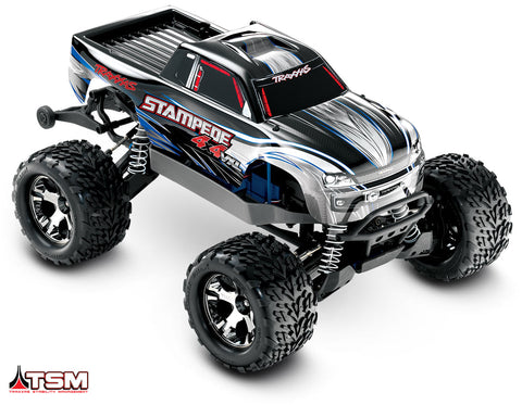Traxxas Stampede 4X4 VXL: 1/10 Scale Monster Truck RTR-Cars & Trucks-Mike's Hobby