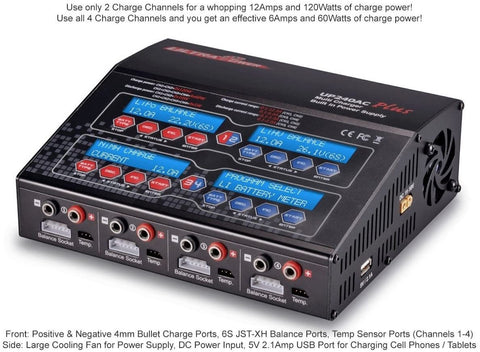 Ultra Power UP240 AC Plus 240W 4-Port Multi-Chemistry AC/DC Charger-CHARGER-Mike's Hobby