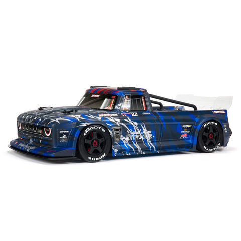 Arrma Infraction V2 6S BLX Brushless 1/7 RTR Electric 4WD Street Bash Truck (Blue) w/DX3 2.4GHz Radio, Smart ESC & AVC (ARA7615V2T1)-Cars & Trucks-Mike's Hobby